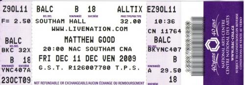 Show Matthew Good 2011