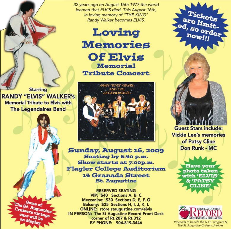Memories Of Elvis Tickets