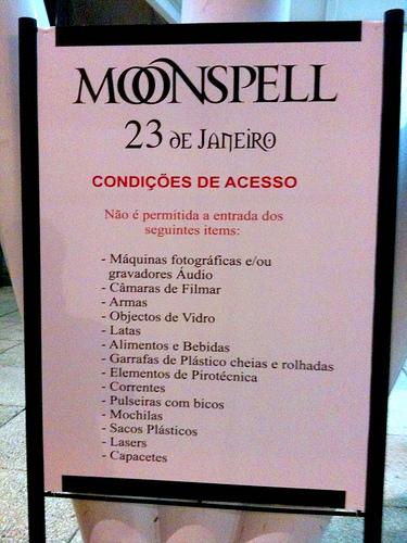 Show Tickets Moonspell
