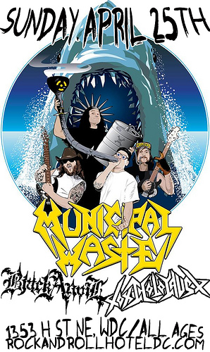 Municipal Waste Tickets Grog Shop
