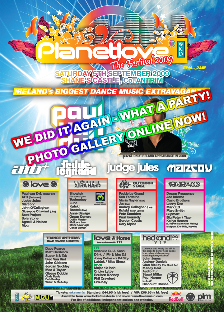 Show Planetlove   The Festival Tickets