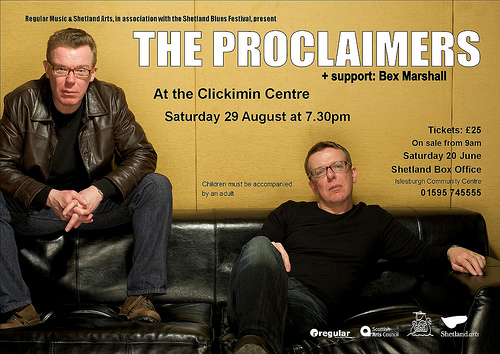 2011 Proclaimers Dates