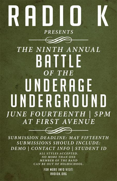2011 Radio K Underage Battle Tour Dates