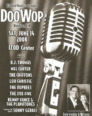Richard Naders Original Doo Wop Reunion Spectacular Xxi Barbara B Mann Performing Arts Hall Tickets
