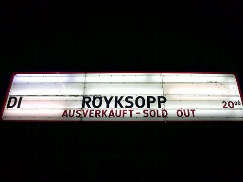 Royksopp Concert