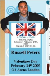Dates 2011 Russell Peters Tour