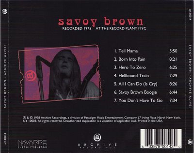 Savoy Brown Tickets Milwaukee