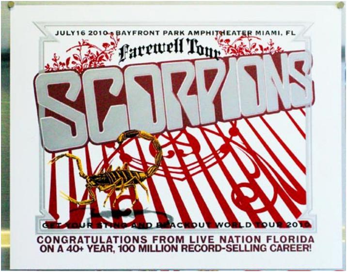 2011 Dates Scorpions