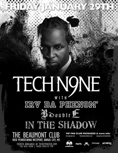 Dates Tech N9ne 2011