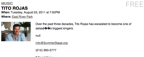 Tito Rojas Tickets New York