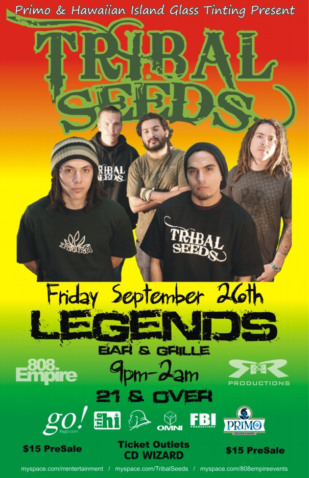 Tickets Tribal Seeds