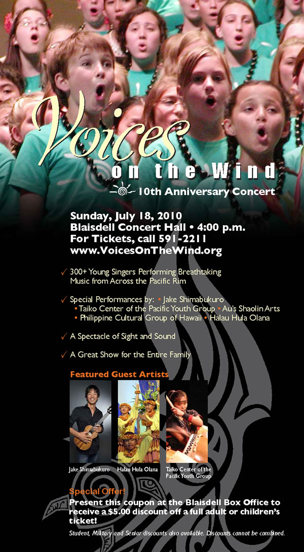 Voices In The Wind Neal S Blaisdell Center Concert Hall Tickets