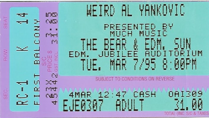 Weird Al Yankovic Tickets Show