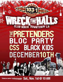 Wreck The Halls 2011 Dates