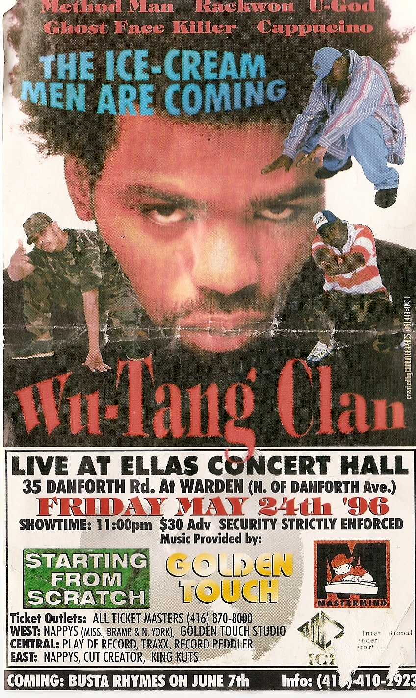 2011 Dates Wu Tang Clan Tour