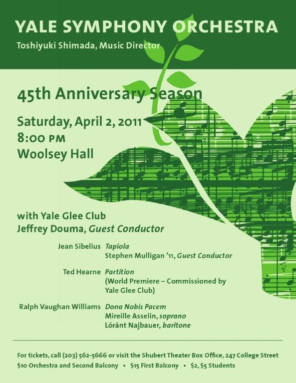 Tickets Yale Symphony Orchestra
