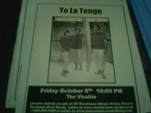 Tour 2011 Yo La Tengo Dates