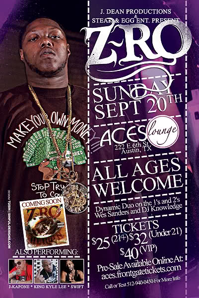 Z Ro Aces Lounge Tickets
