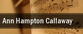 Ann Hampton Callaway tickets