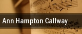 Ann Hampton Callway Tucson Music Hall tickets