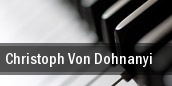 Christoph Von Dohnanyi tickets