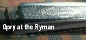 Opry at the Ryman Nashville tickets