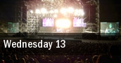 Wednesday 13 Charlotte tickets
