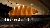 Ed Asner As F.D.R. Huntington tickets