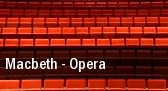 Macbeth - Opera tickets