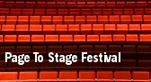 Page To Stage Festival tickets