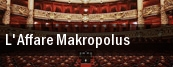 L'Affare Makropolus Teatro Alla Scala tickets