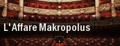 L'Affare Makropolus Teatro Alla Scala tickets