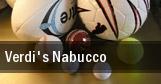 Verdi's Nabucco tickets