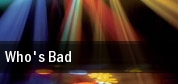 Who's Bad Bluebird Theater tickets
