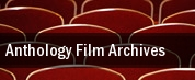 Anthology Film Archives tickets