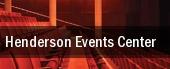 Henderson Events Center tickets