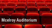 Mcelroy Auditorium tickets