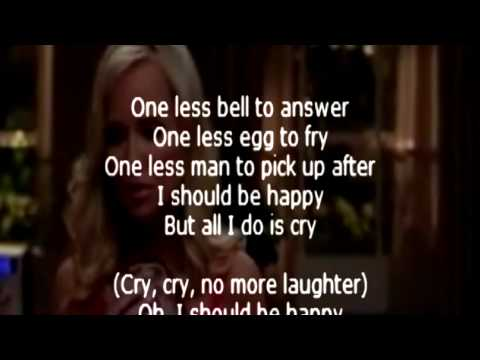 One Less Bell - House is Not A Home (karaoke instrumental) Glee Cast with on screen lyrics