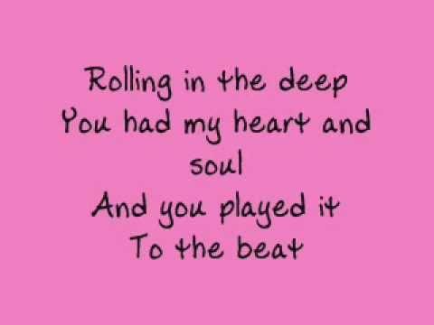 Adele Rolling In The Deep Lyrics In Spanish Rolling In The Deep Lyrics