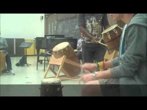 "Group 13, Fall 2010, ""West African Agbedidi Drumming"""