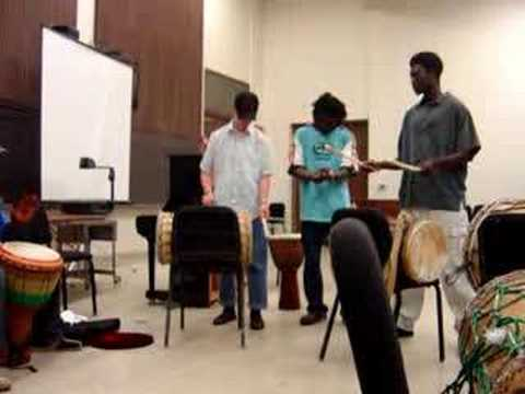 Agbedidi Africa Percussion Ensemble practice