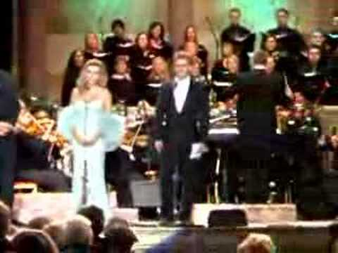 Opera singer Katherine Jenkins and Aled Jones duet