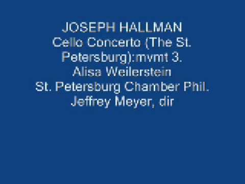 HALLMAN: Cello Concerto. mvmt.3: Alisa Weilerstein, cello