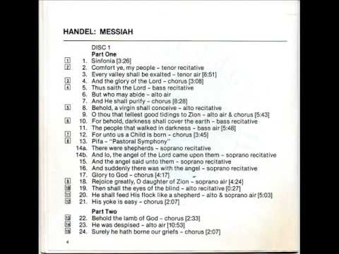 GF Handel: Messiah: And The Glory Of he Lord