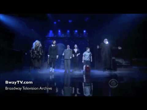 Addams Family Musical - When You`re An Addams (David Letterman 4-6-2010)