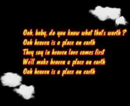 Belinda Carlisle-Heaven Is A Place on Earth lyrics