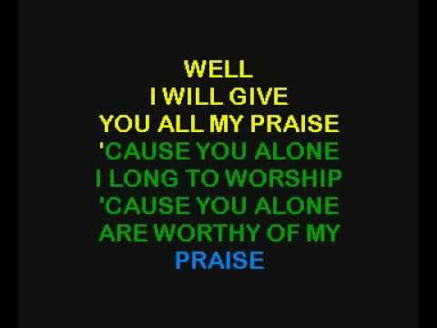 KARAOKE - Big Daddy Weave & Barlow Girl - You`re Worthy Of My Praise