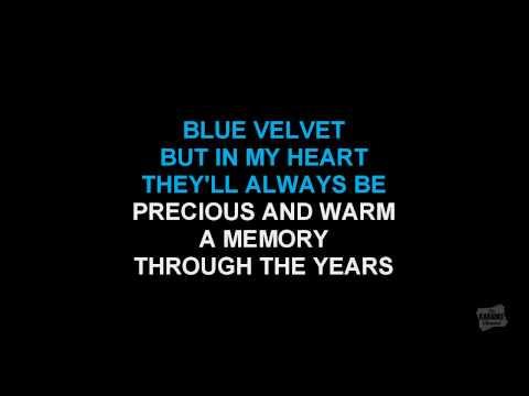 Blue Velvet in the style of Bobby Vinton