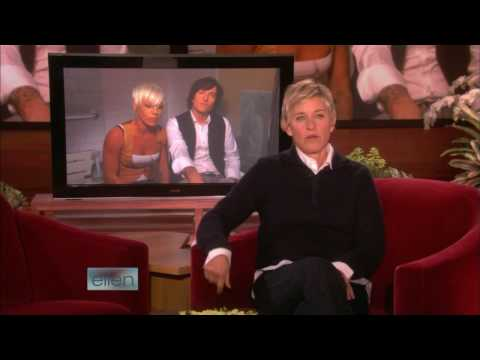 P!nk & Butch Walker in the bathroom (Ellen Degeneres Show)