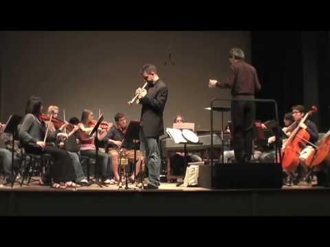 Vivaldi-Bach Mvt 2 , Joe Burgstaller, trumpet w/ Peabody Institute Concert Orchestra RV 230 BWV 972